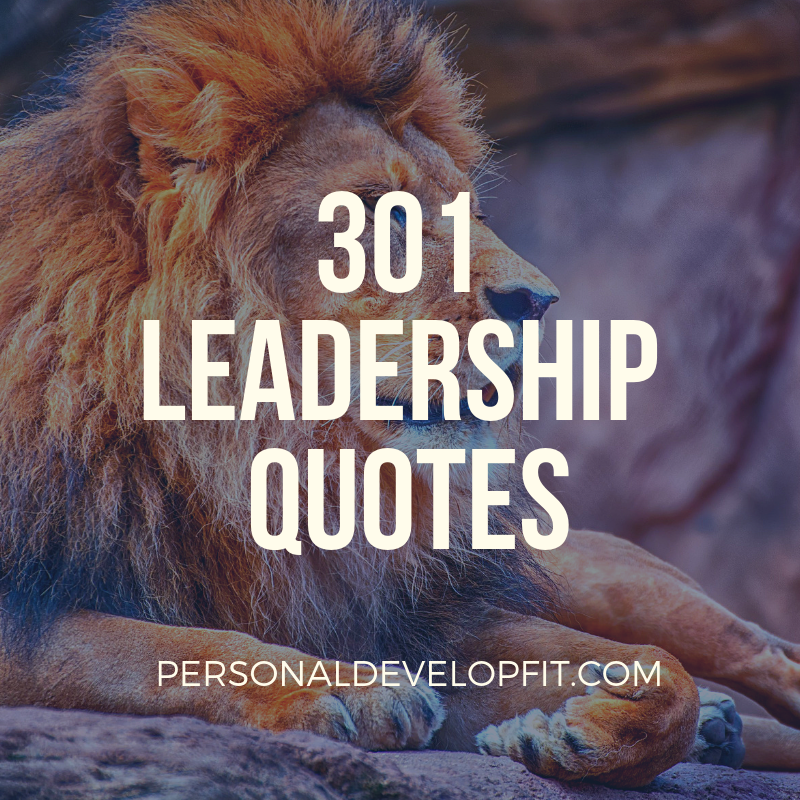 301 Of The Best Leaderships Quotes