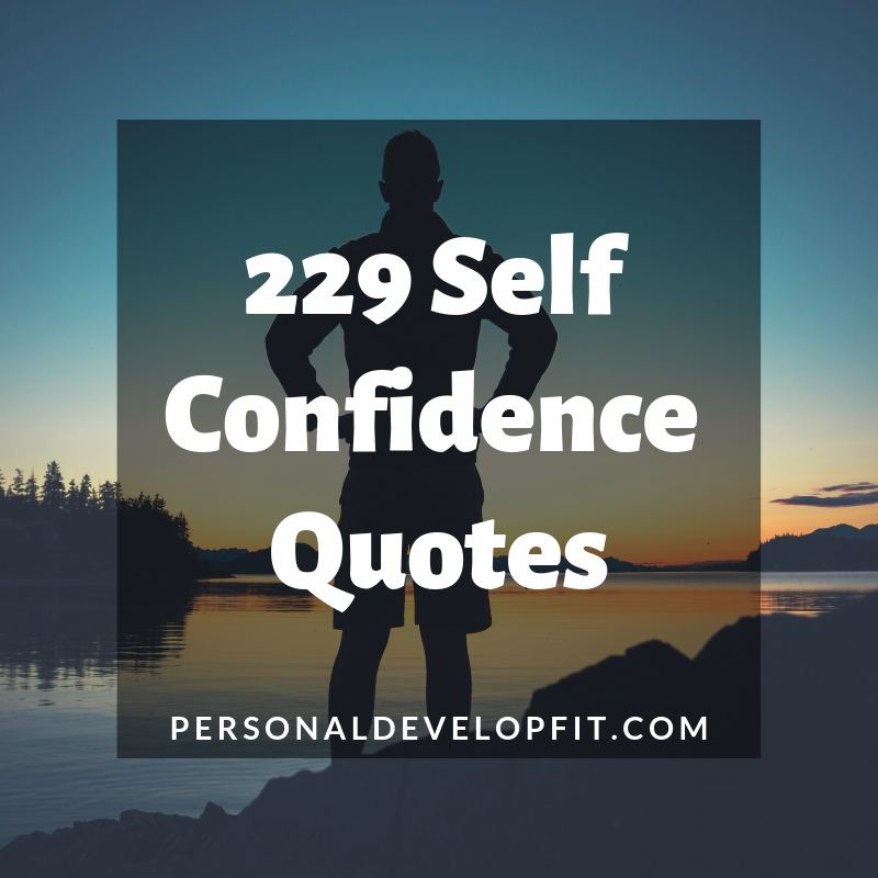 229 Confidence Self Confidence Quotes