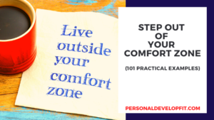 step outside of your comfort zone