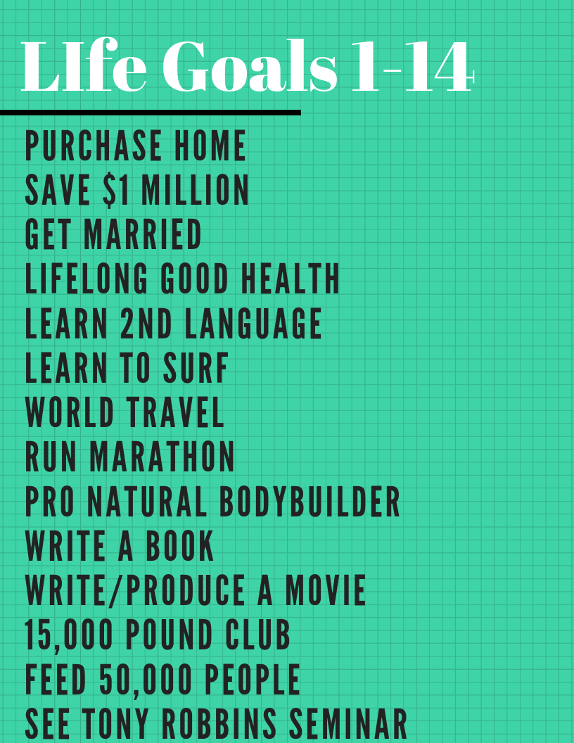 75 life goals examples  how to create your own