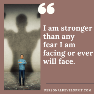 affirmations for fear